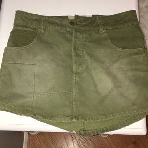FREE PEOPLE distressed cargo skirt
